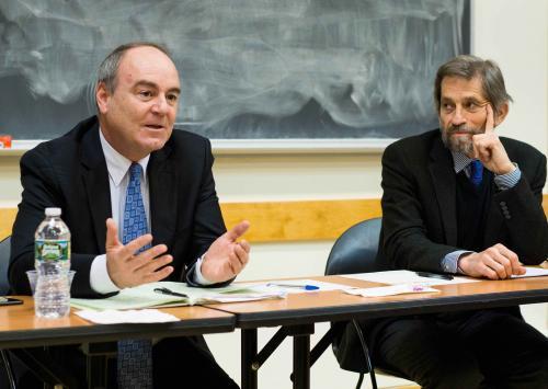 Professor Thomas Graham (right); and Professor Stephen Hanson (left)