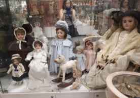 Liliya Dashevski photographing dolls at the Museum of Unique Dolls in Moscow.