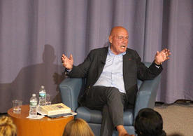 Vladimir Pozner in conversation following his Poynter Lecture